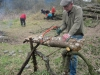 Creating a woodpile - April 2013